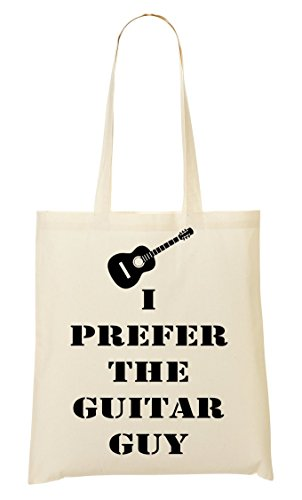 CP I Prefer The Guitar Graphic Bolso De Mano Bolsa De La Compra
