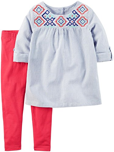 Carters-Baby-Girls-2-Piece-Printed-Shirt-Set