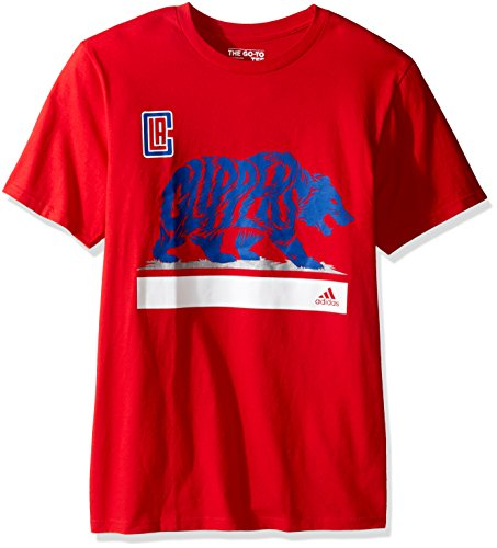 NBA Los Angeles Clippers Adult Mens Clippers Growl S/Go-To Tee,2X-Large,Red