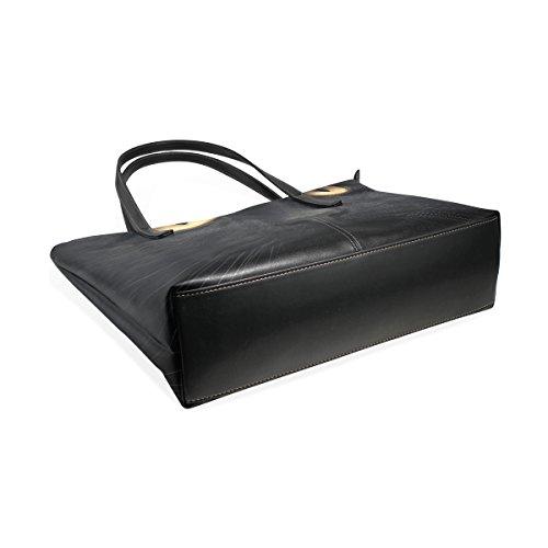 COOSUN schwarze Katze PU Leder Schultertasche Handtasche und Handtaschen Tasche für Frauen
