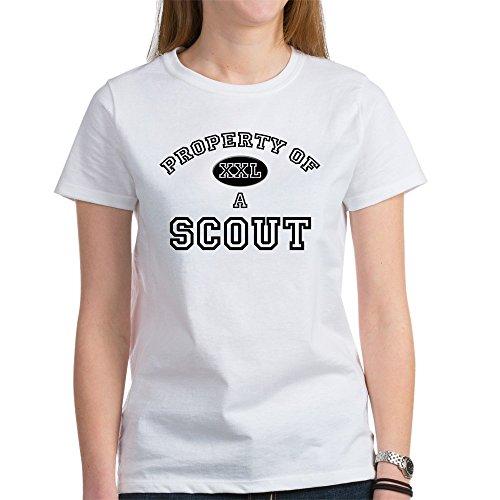 CafePress - Property Of A Scout Women's T-Shirt - Womens Cotton T-Shirt, Crew Neck, Comfortable & Soft Classic Tee - Vintage Boy Scout Uniform Shirt