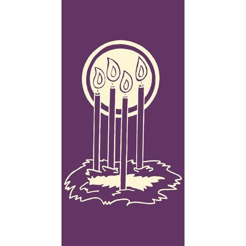 US Gifts 3X6 Advent Ring Banner Purple