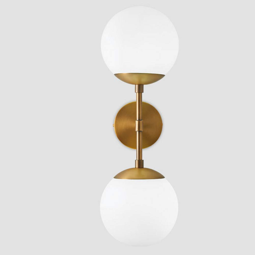 Ij injuicy modern copper glass ball wall lamp magic bean globe molecular brass wall light sconce for restaurant living room bathroom mirror headlights