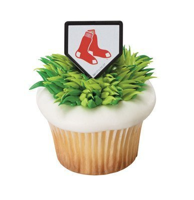 (MLB Cupcake Topper Rings - Boston Red Sox)