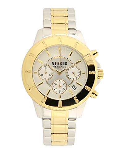 Versus by Versace Men's SGN120015 Tokyo Chrono Analog Display Quartz Two Tone Watch (Versace Bracelet)