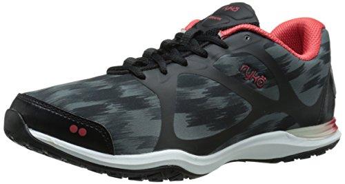 Ryka Grafik formación de la mujer zapatos Black/Iron Grey/Metallic Iron Grey/Cayenne