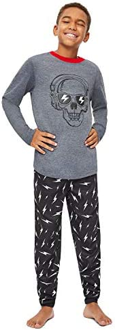 Jellifish Kids Boys 3 Piece Pajama Sleep Set with Pants and Shorts, Camo Pattern