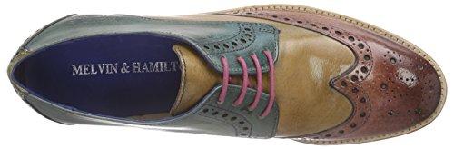 Melvin & HamiltonAmelie 3 - Zapatos Derby Mujer Marrón / Verde