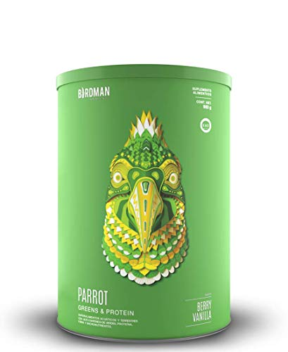 Parrot Greens & Protein Birdman (900gr) Súper Alimento Verde y Proteína (Vegano) en Polvo Certificado Kosher Sabor...