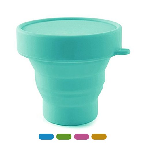 Meeeno Collapsible Silicone Cup for Sterilizing and Storing Menstrual Cup, Reusable and Foldable for Camping Hiking Travel and Outdoors