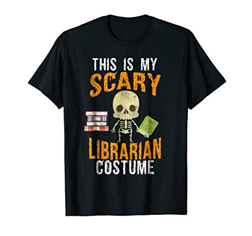 Funny Scary Librarian Costume T-shirt for Halloween for $<!--$15.99-->