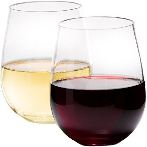 Legacy Unbreakable Wine Glasses (Set of 4) - 100% Tritan - Dishwasher Safe - BPA-Free, Shatterproof Thick Plastic