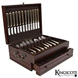 Kingscote Silversmiths - Princeton Flatware Chest - Mahogany - 210 Capacity