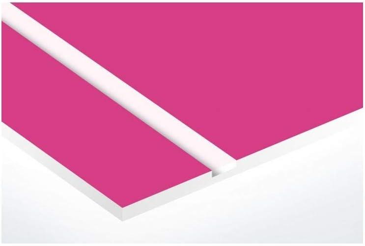 rose lettres blanches 2 lignes Lettres blanches 99x24mm Plaque boite aux lettres format Edelen 2,5 cm Plaque rose