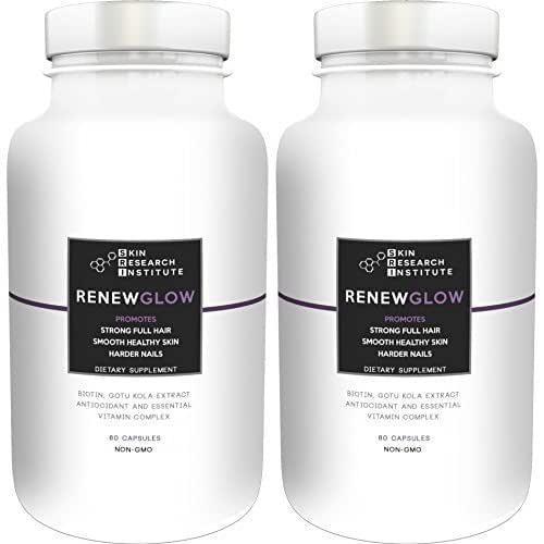Renewglow - Anti Aging Supplement Fights Against Biotin Deficiency, Free Radicals And Prevents Oxidation To Restore Hair And Skin For A Healthy Glow (2 - pack)