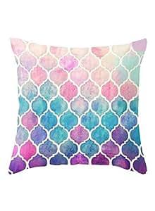 Boho Geometric Beach Painting Pillow Cover Multicolour 45x45 centimeter