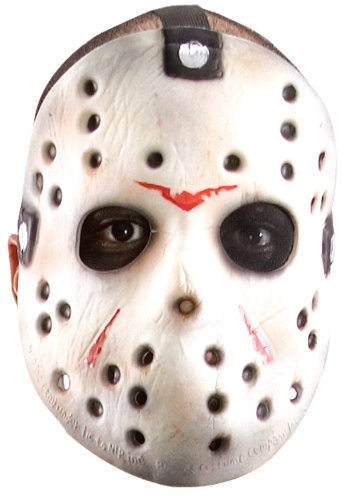 Friday The 13th Jason Hockey Mask (Friday The 13th Jason Voorhees Original Hockey Mask, Gray, One Size)
