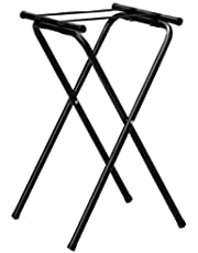 American Metalcraft CTS31 Tall Deluxe Black Chrome Tray Stand, 31-Inch