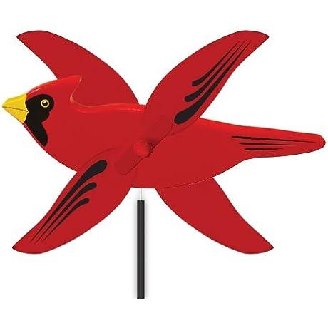 WindNSun WhirlyGig Outdoor Animated Decor Cardinal