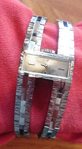 JMF watch Vintage double band 17 jewels incabloc Swiss silver tone mechanical ()