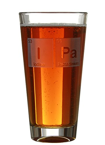 (Beriodic Table - Engraved 16oz Beer/Cider Pint Glasses With Periodic Table Block Designs - By Celery Street For Birthday's/Anniversaries (I Pa))