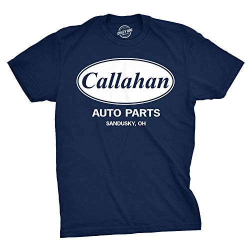(Mens Callahan Auto T Shirt Funny Shirts Cool Humor Movie Quote Sarcasm Tee (Navy) - L)