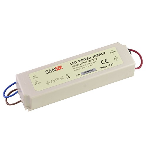 SMPS Power Supply for LED 12V 150W 12A IP67 Switch Driver 110V 220V AC DC Lighting Transformer Waterproof Plastic (SANPU LP150-W1V12)