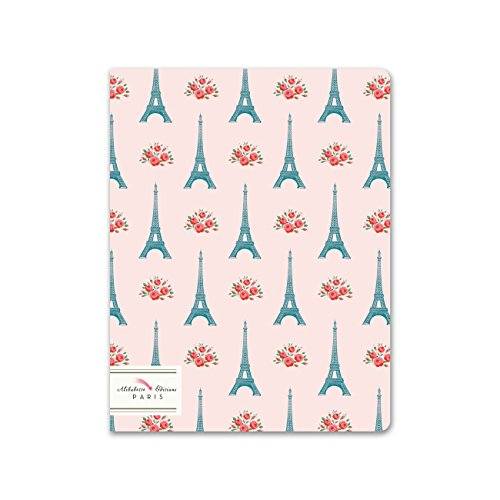 Alibabette Editions Paris Mademoiselle Eiffel Exercise Notebook, 64 Pages, 8.75 by 6.75