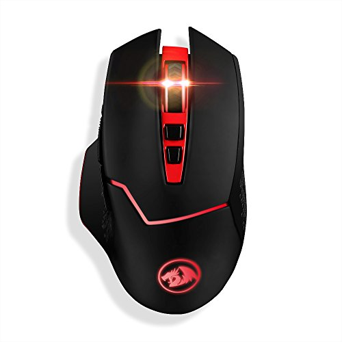 Redragon 4800DPI 2.4GHz Wireless Adjustable Gaming Mouse with 8 Buttons for Notebook, PC, Laptop, Computer, Macbook (Black)