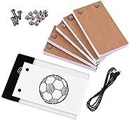 KKmoon Flip Book Kit com almofada de luz LED Light Box Tablet 300 folhas Flipbook de papel de desenho com para