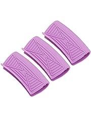 UPKOCH 3pcs Silicone Pot Handle Holder Pot Handle Sleeve Grip Heat Resistant for Cast Iron Pans Metal Frying Pans Skillets Griddles