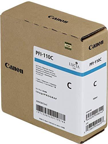 - Genuine Canon Ink Tank PFI-110C - Cyan 160ml - 2365C001AA