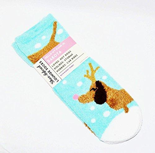 Bath and Body Works Shea Infused Lounge Socks Dakota The Dachshund