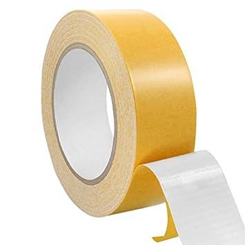 Verschiedene Breiten Teppichklebeband doppelseitig Teppichverlegeband Beidseitig stark klebend 25 m auf Rolle || 38 mm x 25 m