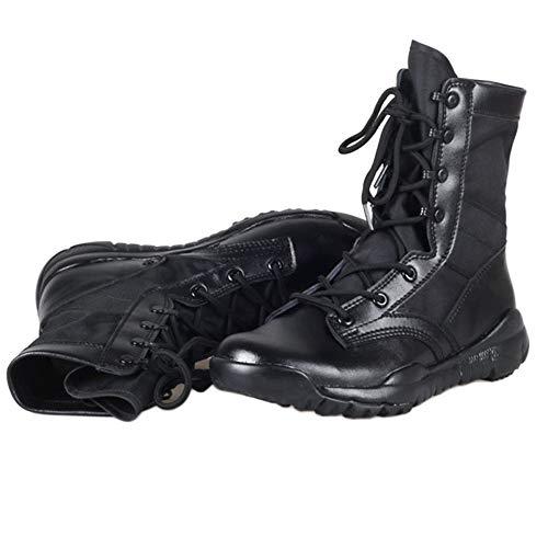 Stivali E Leggero Super Tattico snfgoij Black Estate Uomo Alta All'aperto Traspirante Leggero Militare Pattuglia Nero EZnqf80