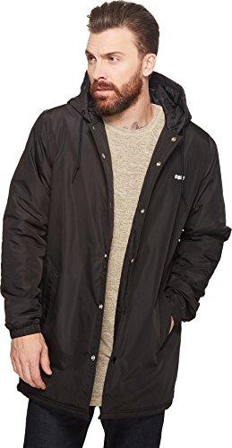 OBEY Men's Singford Stadium Ii Hooded Jacket, Black, (Insulated Stadium Jacket)