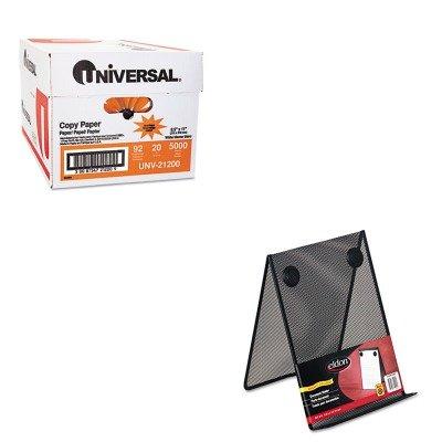 KITROLFG9C9500BLAUNV21200 - Value Kit - Rolodex Nestable Wire Mesh Freestanding Desktop Copyholder (ROLFG9C9500BLA) and Universal Copy Paper (UNV21200)