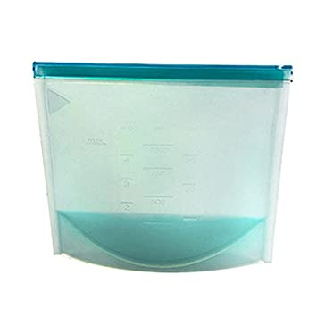Bolsas de silicona reutilizables para sellar alimentos al ...