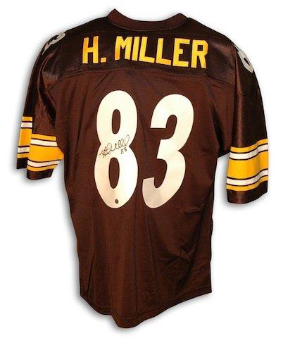 Autographed Heath Miller Pittsburgh Steelers Black Throwback Jersey -APE COA ()