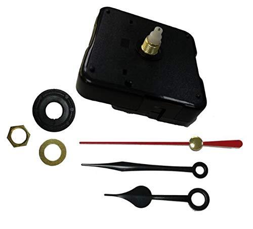 Maslin 10PCS New Clock Mechanism with Quartz Wall Clock Movement Watch Mechanism DIY Repair Tool Parts Kit Heart Shape Hands Shaft 6mm