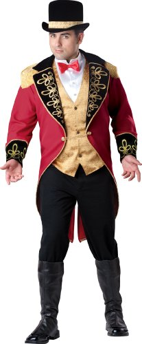 InCharacter Costumes Men's Plus Size Ringmaster Costume, Red Gold/Black, XX-Large (2)