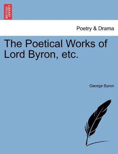 Download The Poetical Works of Lord Byron, etc. pdf