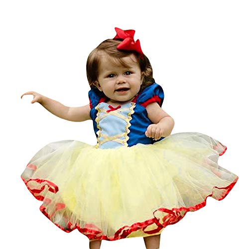 SUNBIBELovely Baby Clothes,0-5Age Baby Princess Snow White Dress Vintage Lace Party Princess Tulle Tutu Dress Costumes (6-12M, Blue) -