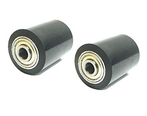 Set-of-2-Pallet-Jack-Load-Support-Wheel-3-58-Wide-x-3-14-Diameter-x-17mm-ID-Bearing