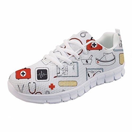 Nurse Sneakers Dental Air Print Tennis Women's Running Lightweight Mesh HUGS IDEA 1 Shoes q4PXwBI