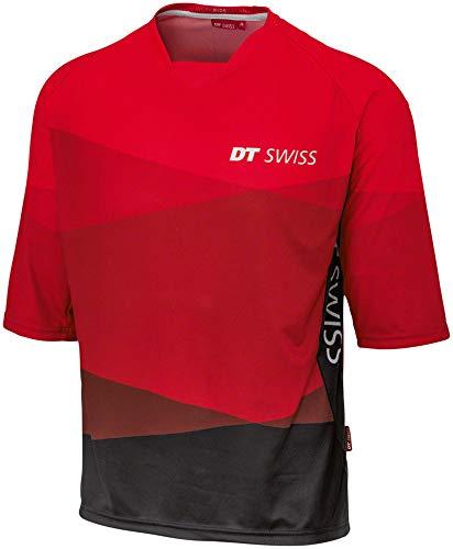DT Swiss Men's 3/4 MTB Jersey: Red/Black, LG