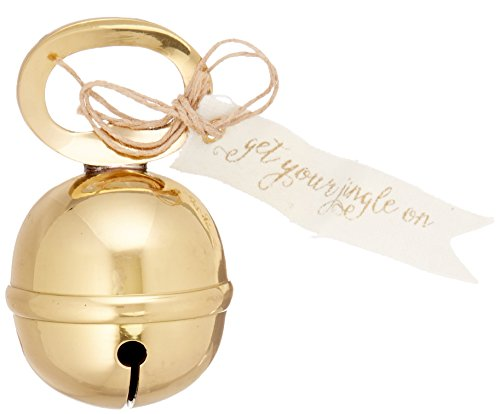 Mud Pie Holiday Christmas Bar Jingle Bell Bottle Opener, Gold