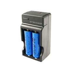 Charger with Two 14500 Rechargable Batteries by Spring Digi Center