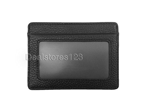 Dealstores123 - Slim Genuine Leather ID Wallet & Credit Card Holder Wallet Sold only by Dealstores123 (Black)