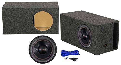 American Bass HD12D2 HD 12' 4000w Competition Subwoofer+Vented Sub Box Enclosure